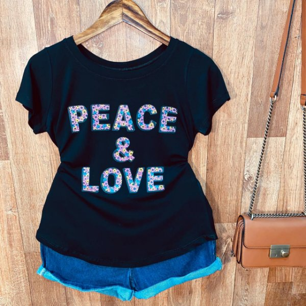 T-shirt Peace e Love