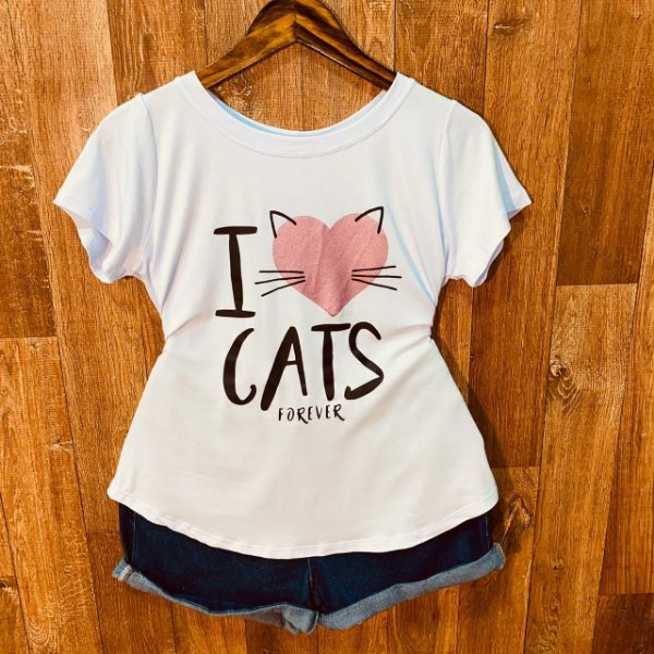 T-shirt I Love Cats Forever
