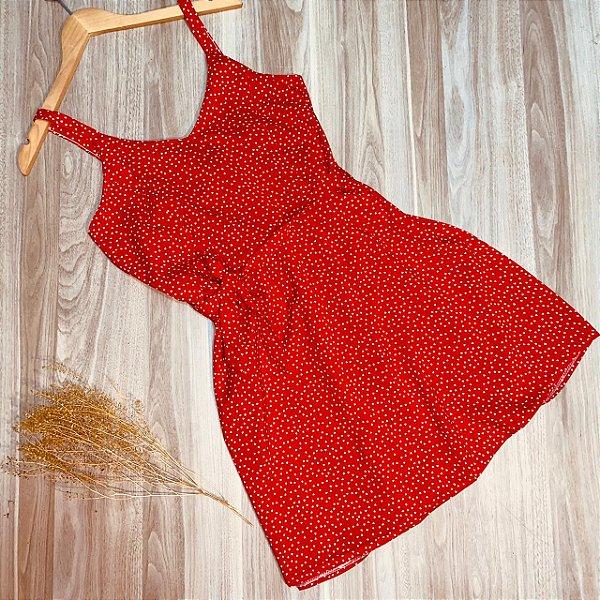 Vestido Alcinha Mini Corações Ana Vermelho