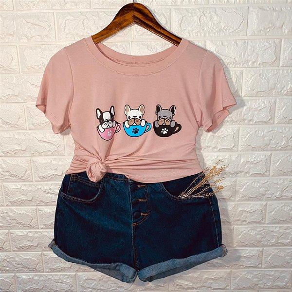 T-shirt Pug Fofinhos