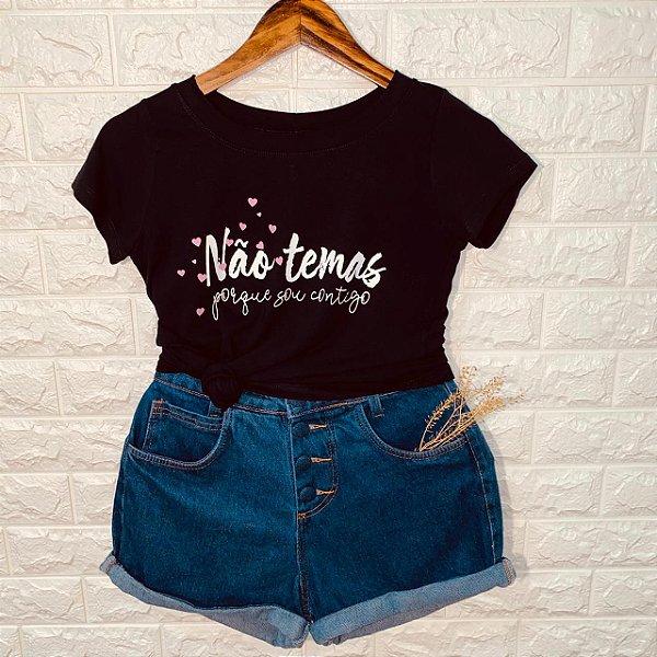 T-shirt Não Temas Porque Sou Contigo