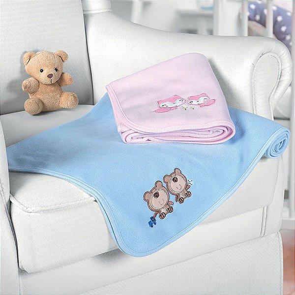 ad93cac621 Manta Baby Fleece Lepper  Azul  - Meg   Lili Enxovais
