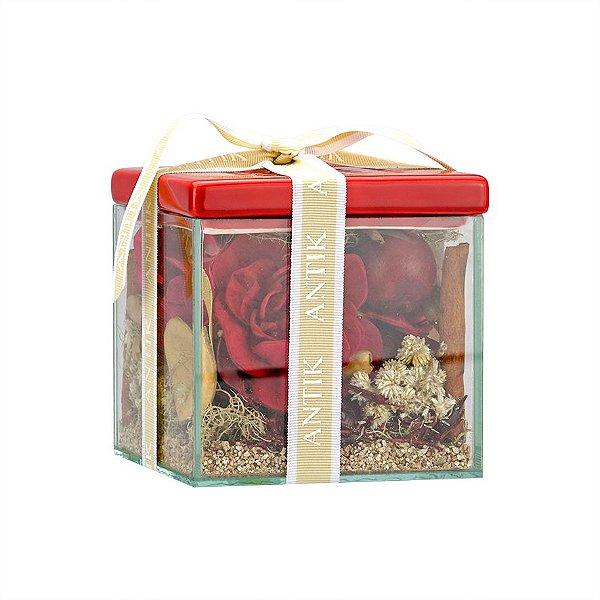 Caixa Vidro com Potpourri - Apple Spice