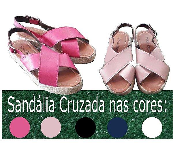 c6384d545 Sandália Avanca Cruzada com sola 3cm tamanco com solado ...