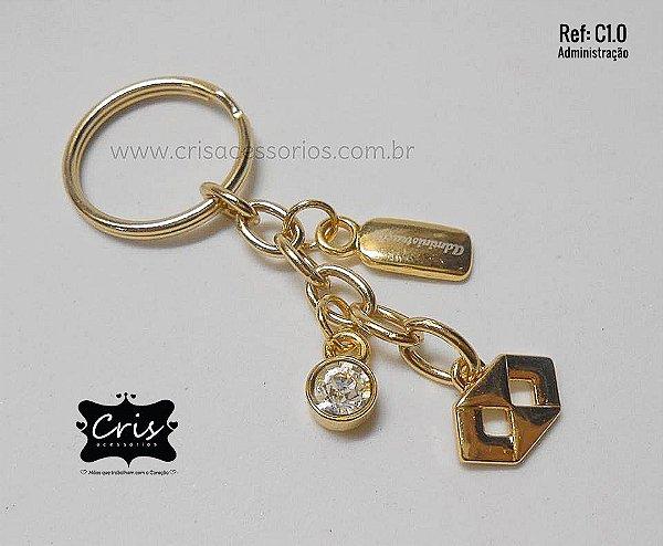 Chaveiro Dourado PROFISSÃO ♥ C1 ♥