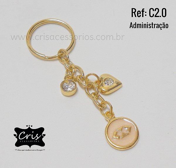 Chaveiro Dourado PROFISSÃO ♥ C2 ♥