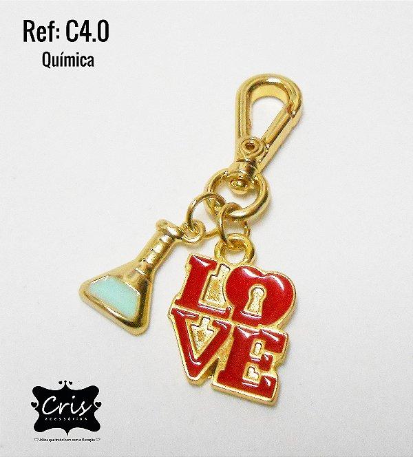 Chaveiro Dourado PROFISSÃO ♥ C4 ♥