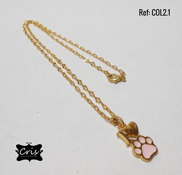 Corrente Dourada LOVE PET ♥ CL.2