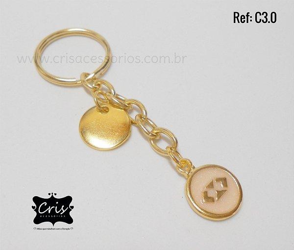 Chaveiro Dourado PROFISSÃO ♥ C3 ♥