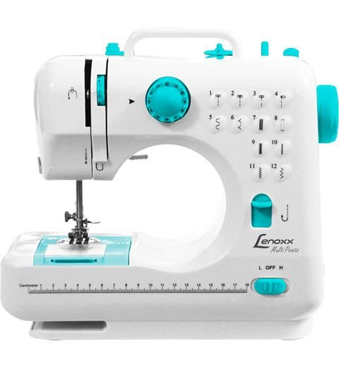 Máquina De Costura Portátil 12 Pontos Bivolt - 2 Velocidades - Costura Rversa - Lenoxx Psm101