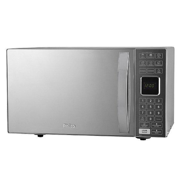 Micro-ondas Philco PME25 25L Rápido Prata Espelhado -110v