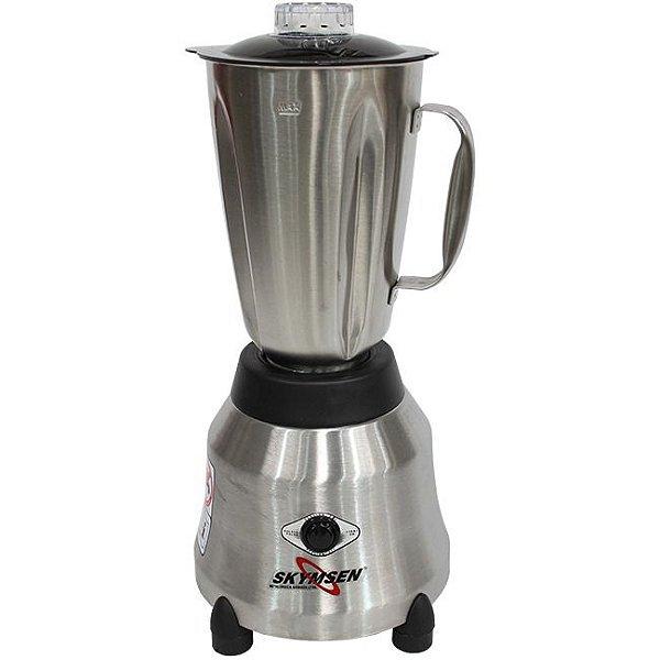 Liquidificador Skymsen LI-1,5-N 1,5L Inox Copo de Inox Alta Rotação 127v