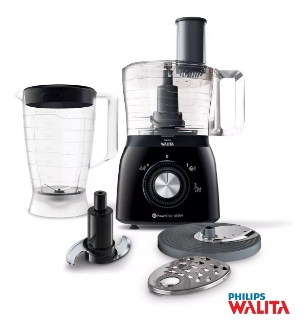 Processador De Alimentos Philips Walita Viva Preto RI7630/91 - 220v
