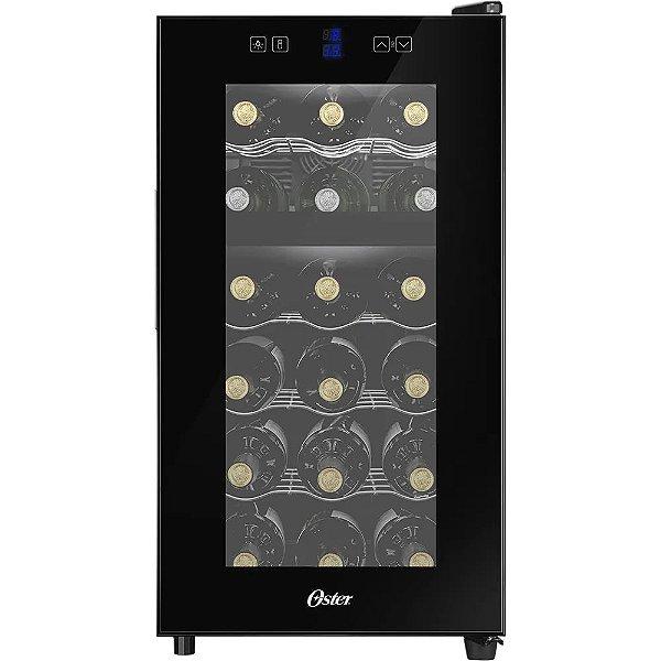 Adega Oster 18 Garrafas Dual Zone Touch Control Oade-180 Bivolt