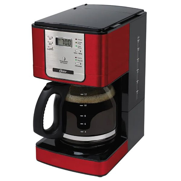 Cafeteira Elétrica Programável Oster Vermelha 220v