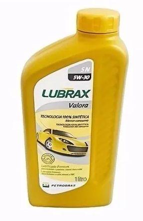 ÓLEO MOTOR LUBRAX SINTÉTICO 5W30 VALORA SN