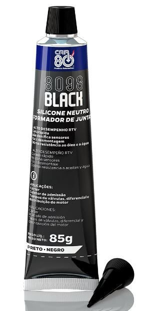 SILICONE PRETO CAR80 8098 ULTRA BLACK
