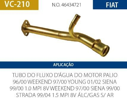 CANO D AGUA FIAT VALCLEI VC210 PALIO-SIENA-STRADA