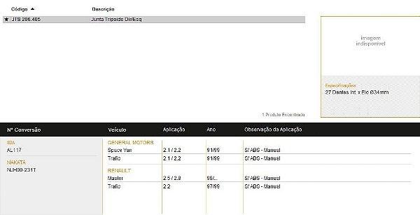 TRIZETA GM-RENAULT STOCK-AIG JTS206405 SPACE VAN-TRAFIC