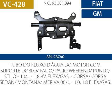 CANO D AGUA FIAT-GM C-SUPORTE VALCLEI VC428 DOBLO-PALIO