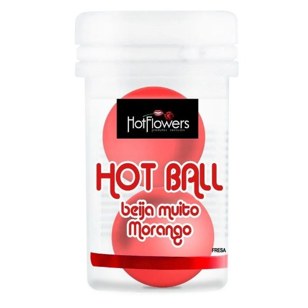 Hot Ball Beija Muito Duplo Morango Hot Flowers