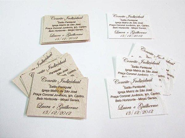 Convite individual clássico