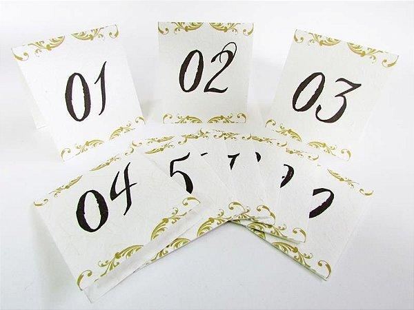 Marcador para numeração das mesas - 8,5 x 9,5 cm (cada)