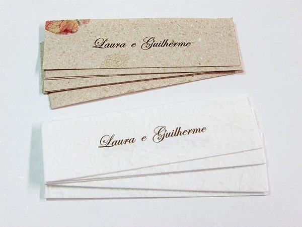 Etiqueta para nomes dos convidados 2 x 9 cm