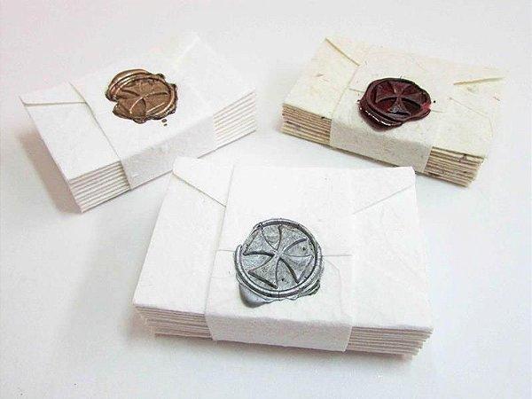 Kit com 10 unidades de cartões de agradecimento
