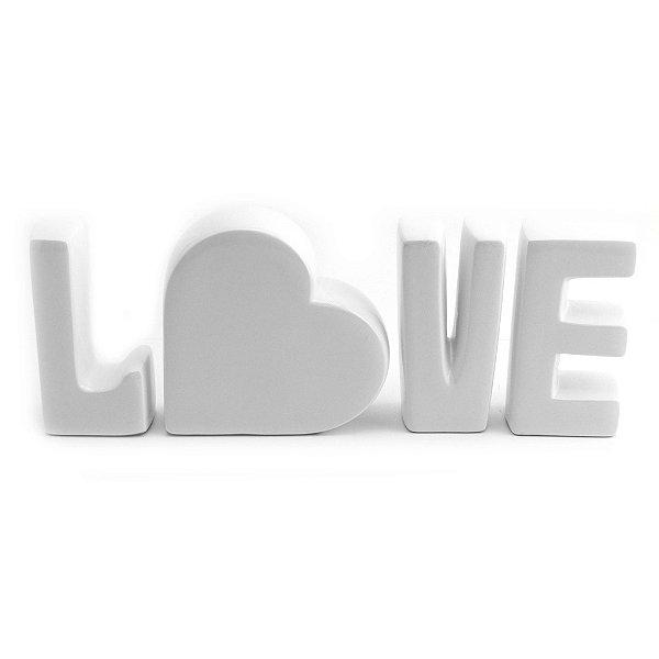 LOVE - letras - cerâmica