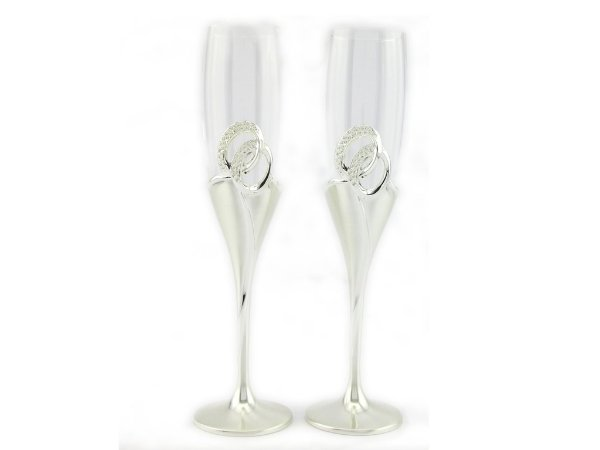 Taça sofisticada para o brinde dos noivos