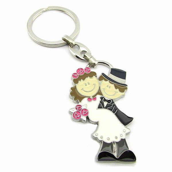 Chaveiros - casal de noivinhos