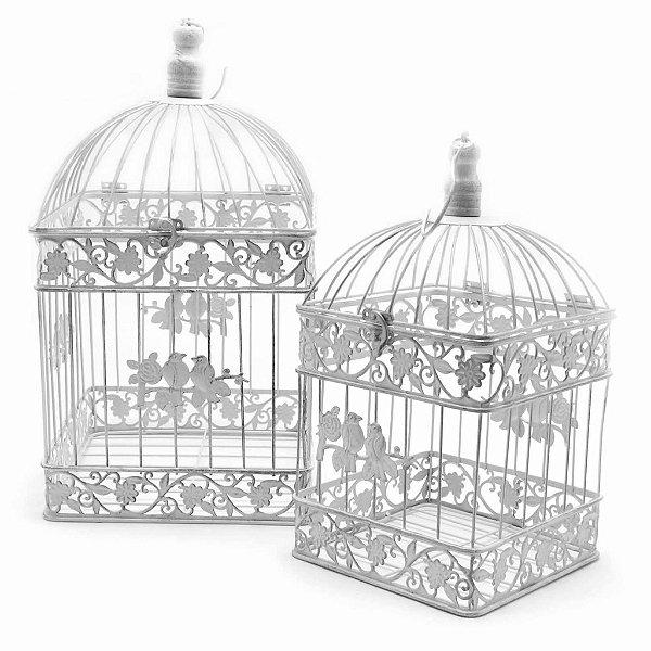 Gaiolas - Quadrada Grande - Pássaros - Conjunto