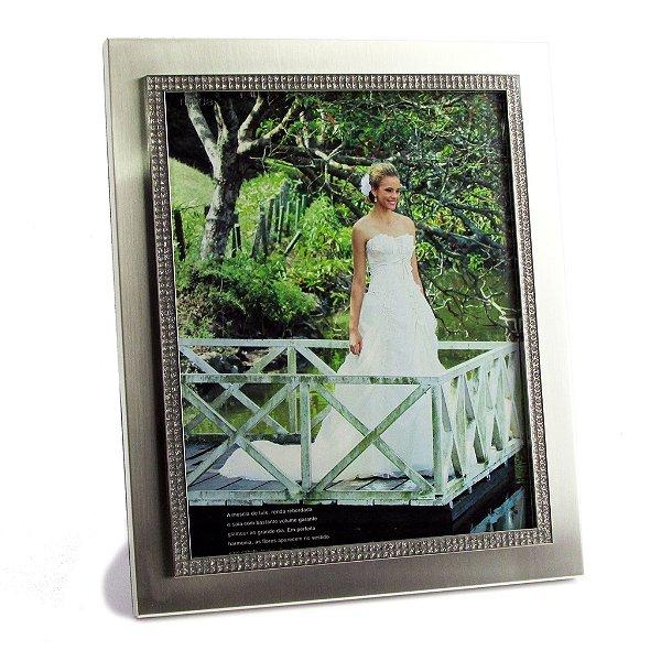 Porta retrato casamento - Metálico brilho luxo