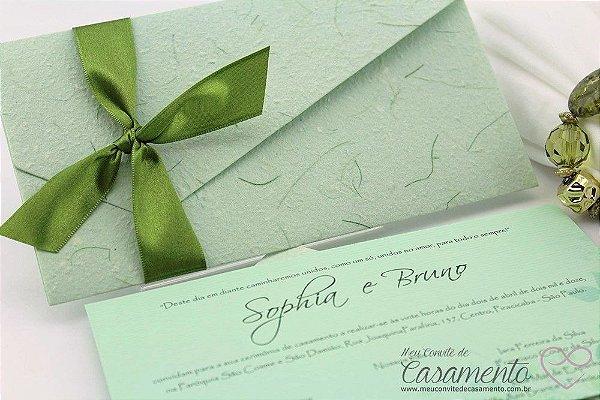 Convite Diferente Verde (Pérola)