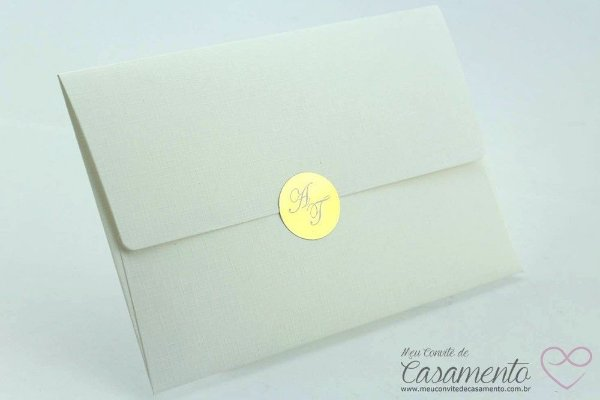 Convite Clássico Ouro (Turquesa)