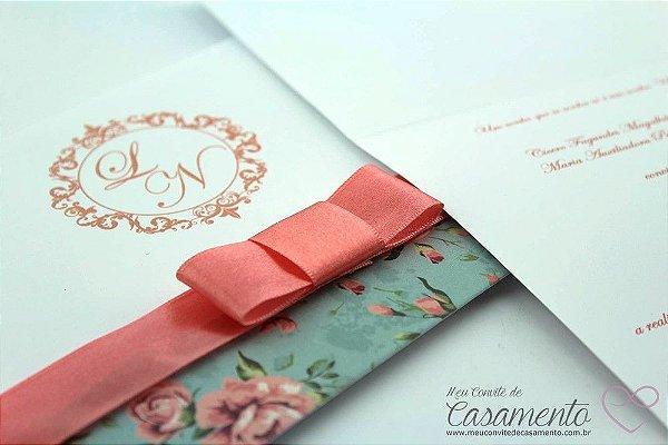 Convite Floral Vintage (Jaspe)