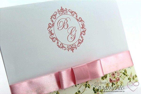 Convite Floral Romantico (Jaspe)