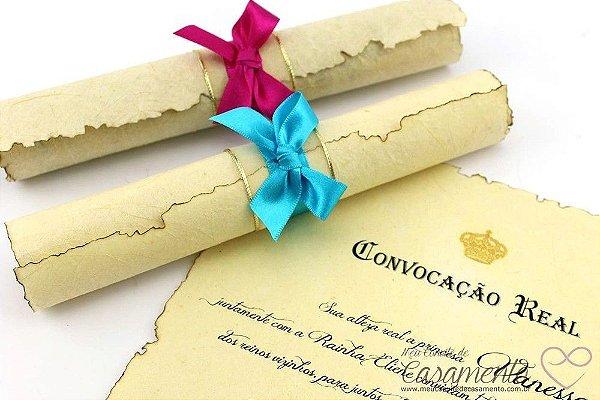 Convite Pergaminho 15 anos (Pergaminho)
