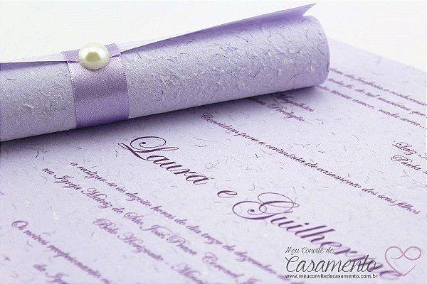 Convite Pergaminho Lilás (Pergaminho)