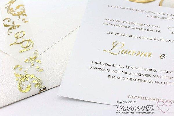 Convite Clássico Luxo (Ouro)