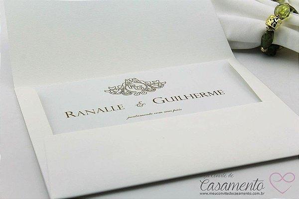 Convite Clássico Luxo (Andaluzita)
