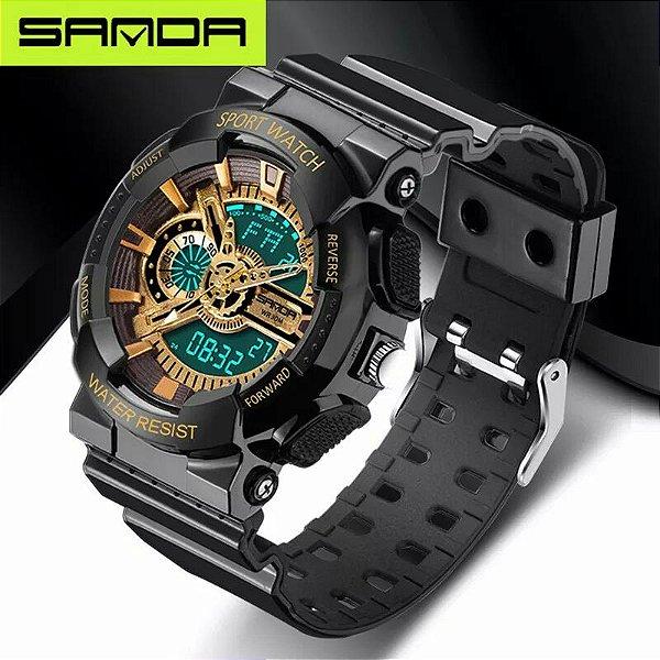 a779936f50d Homens da moda Relógio Digital Esporte Militar Assistir À Prova D  Água de  Luxo Dos