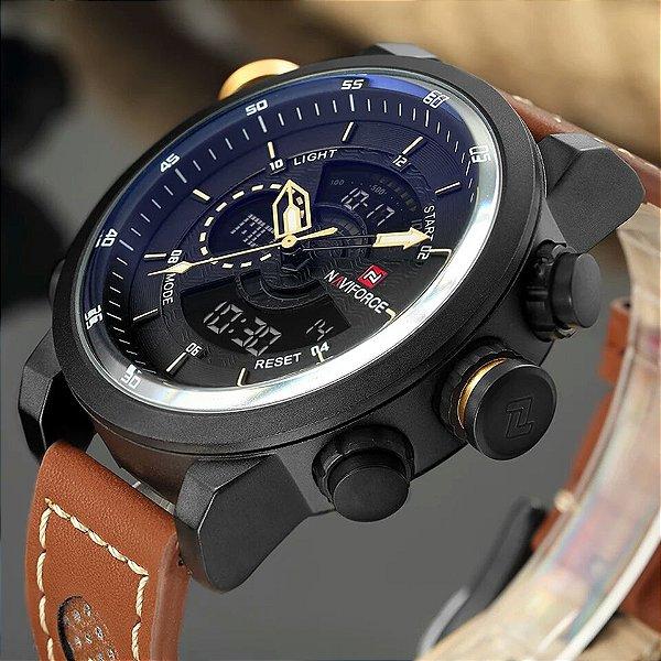 c223a731f5b Relógio Do Esporte Dos Homens Da Marca NAVIFORCE Exército Militar Masculino  Relógio Relógio de Moda Relógio