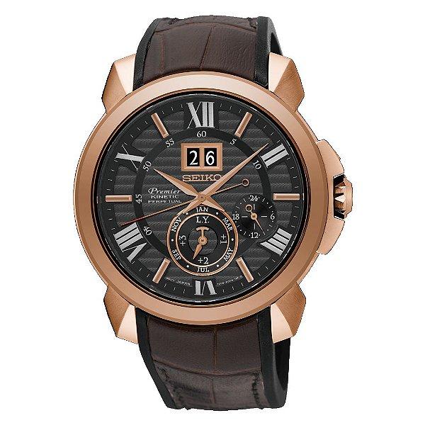 Relógio Seiko Premier Kinetic AutoRelay Perpetual  Novak Djokovic snp146p1