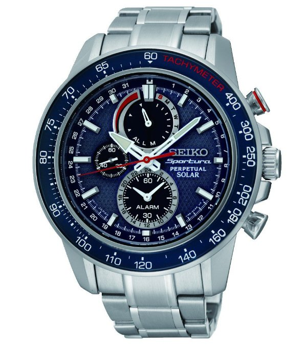 Relógio Seiko Sportura Solar Perpetual  ssc355p1 * Safira
