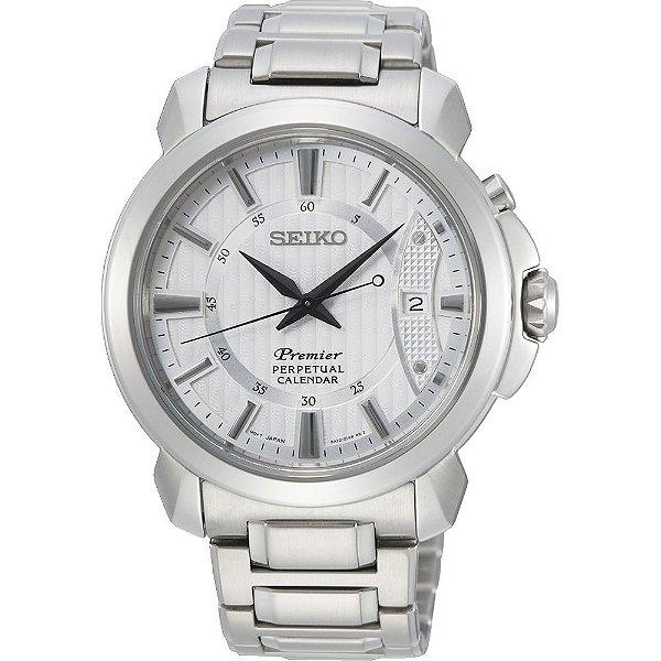 Relógio Seiko Premier Quartz snq155b1 Safira