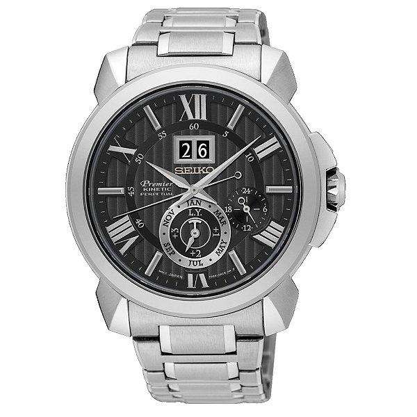 Relógio Seiko Premier Kinetic Perpetual  snp141p1 Safira