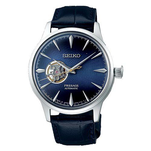 Relógio Seiko Presage Coquetel Blue Moon Open Heart Automático SSA405J1 Made in Japan