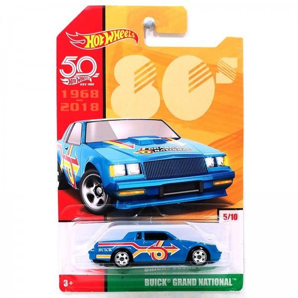 VEICULOS HOT WHEELS 50 ANOS RETRO 80'BUICK GRAND NATIONAL - FRF45